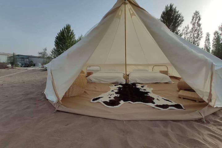 敦煌沙漠露营基地单人帐篷  特色是文哥带你玩【文哥是个体验达人,体验体验再体验,将体验进行到底】