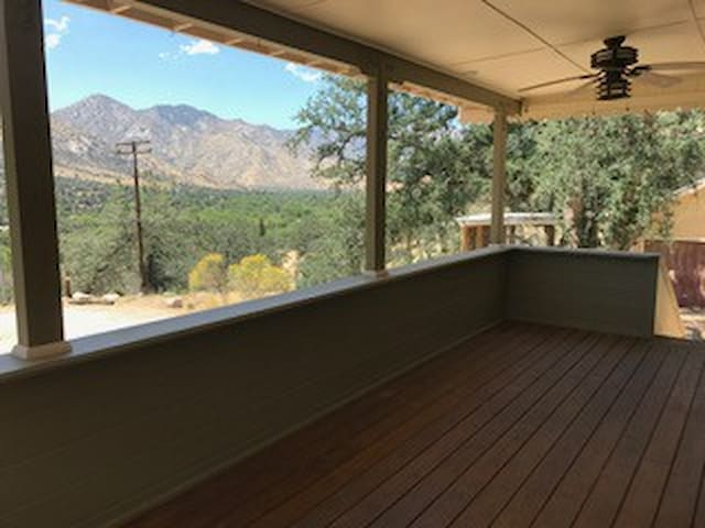 Covered front porch with breathtaking views