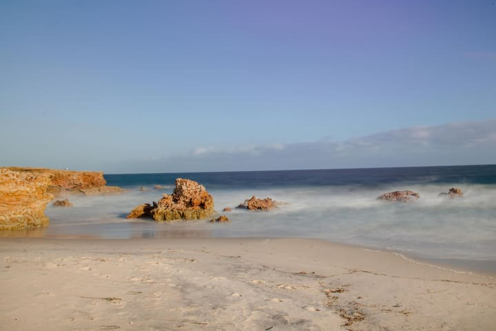 Turnbulls beach- perfect for swimming and fishing
