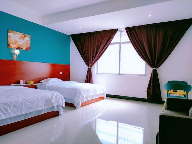 【半岛·東寓】简约时尚自助两床大房公寓