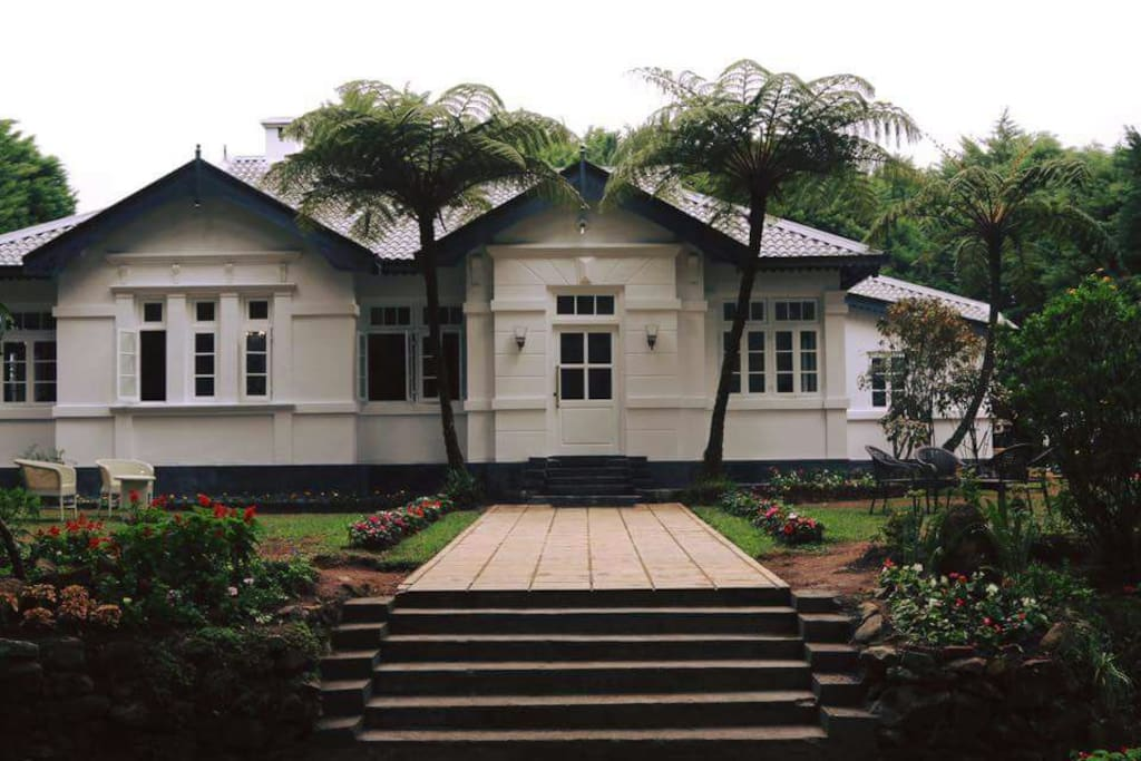 Front view of the bungalow