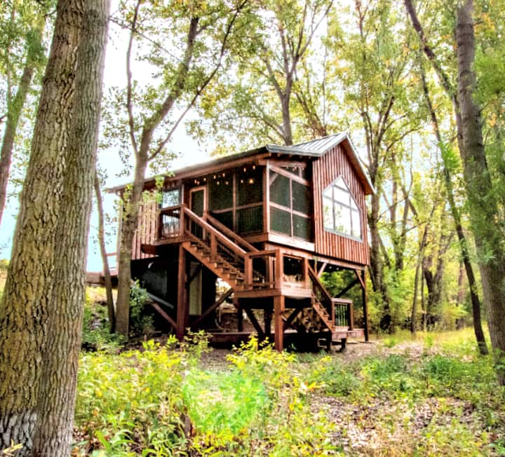 Award Winning Timber Frame: Firefly Treehouse