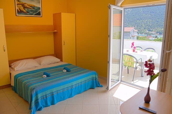 Sunny studio apartment with great terrace and view - Grebaštica - Huoneisto