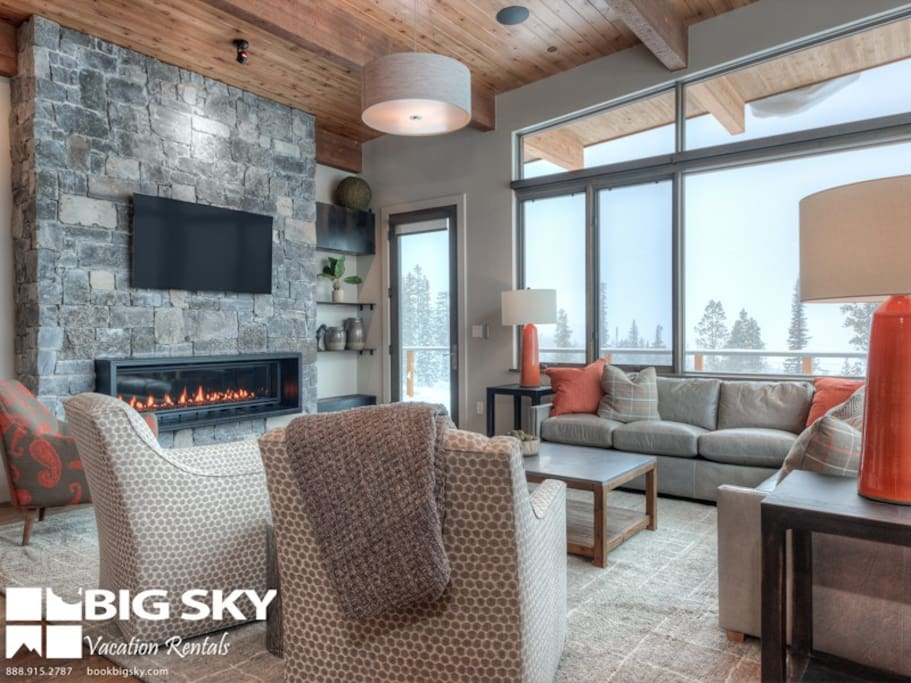 Big Sky Resort, Silvertip 18 Alpine Bend, Living, 3