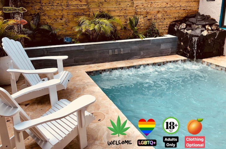🌈 Queer 420 spot w/  jacuzzi/pool🍁