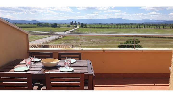 Joiebre - Dúplex terraza, piscina y vistas  puesta