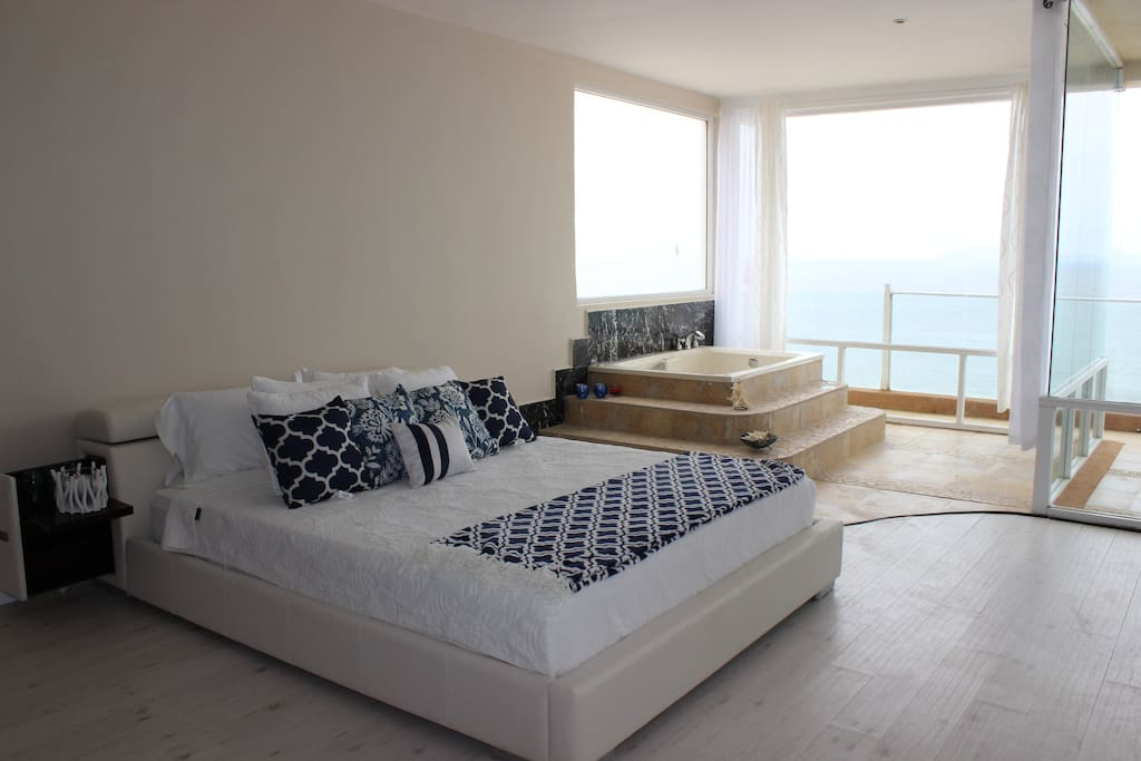 Master Bedroom with Jacuzzi and Ocean View