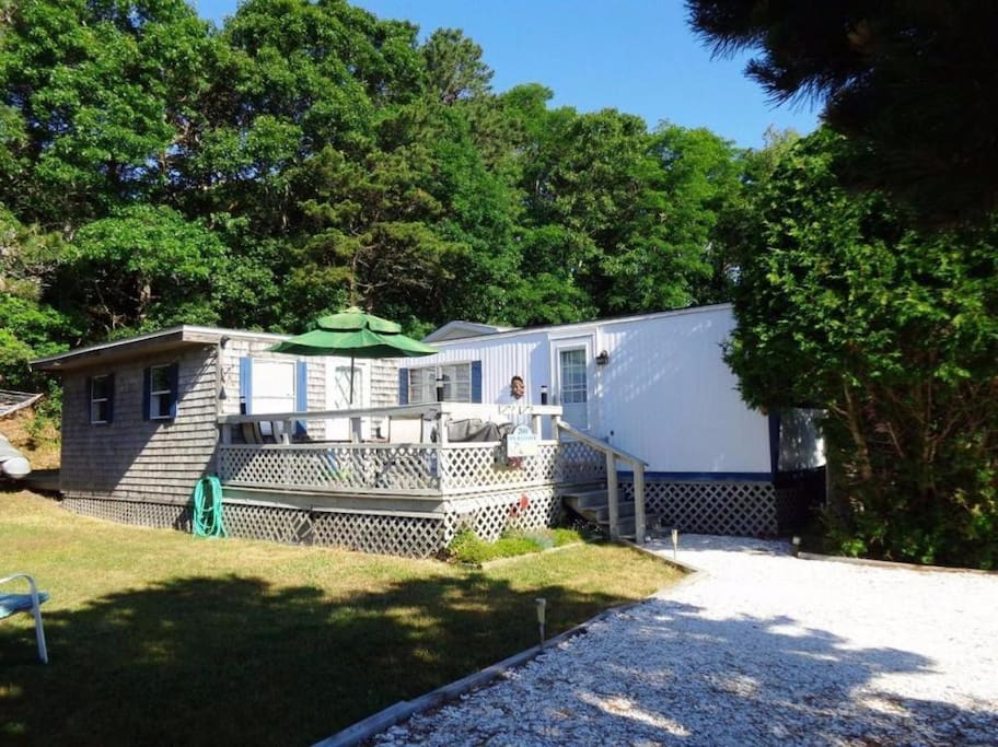 Ample parking and walking access to Cape Cod Bay