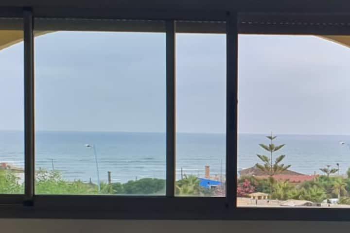 Vue sur mer, Dar bouazza.  Face aux plages privées