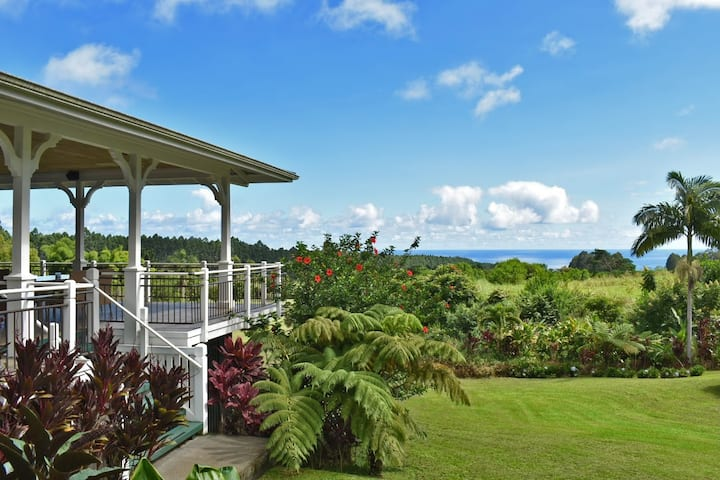 Kapehu Falls. Stunning 20-acre ocean view estate