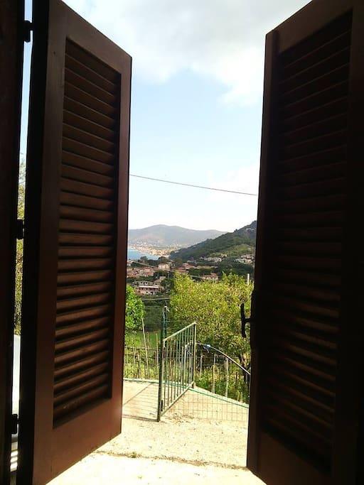 vista panoramica dall' appartameto