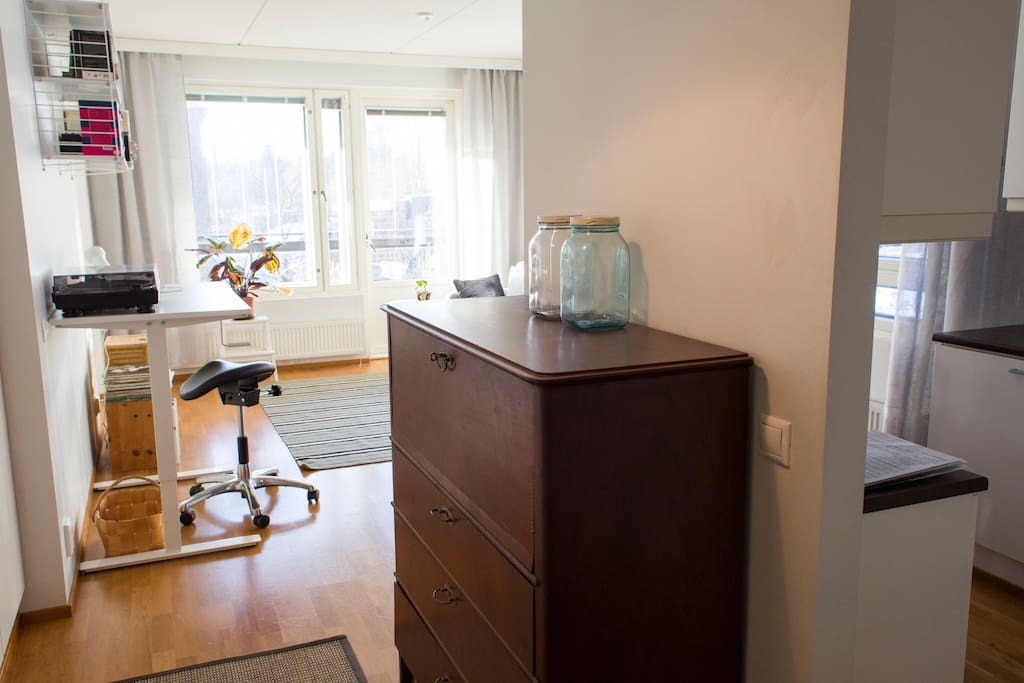 Cosy and bright 50,5 square meter 2 room apartment with a spacious balcony and private sauna
