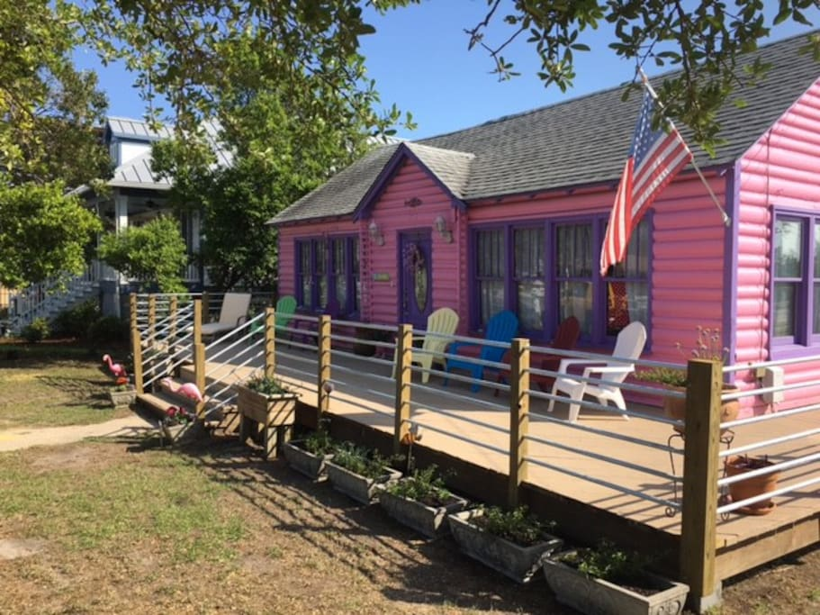The Pinky Promise Pink House!  Located in Downtown Myrtle Beach