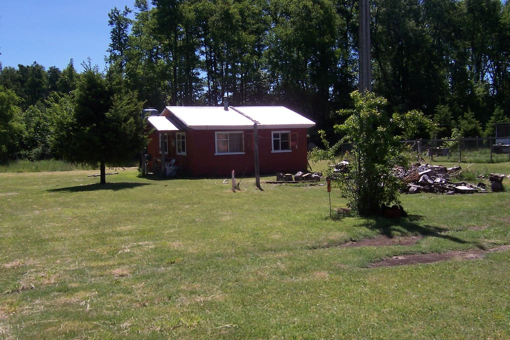 Vista lateral cabaña