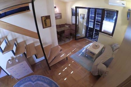Maisonette apartment 4+2,private terrace, sea view - Prizna