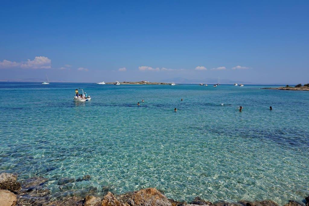 Beach of Tourlos.