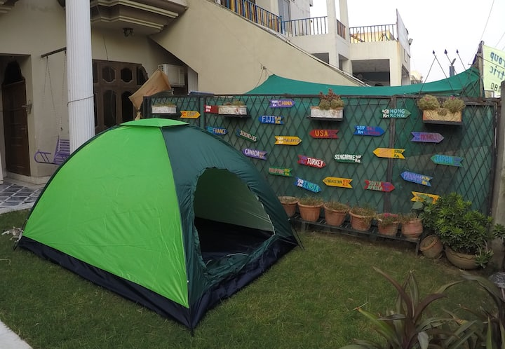 Camp/Tent for Backpackers in private lawn