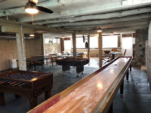 Super long shuffleboard table...Super Fun!!!