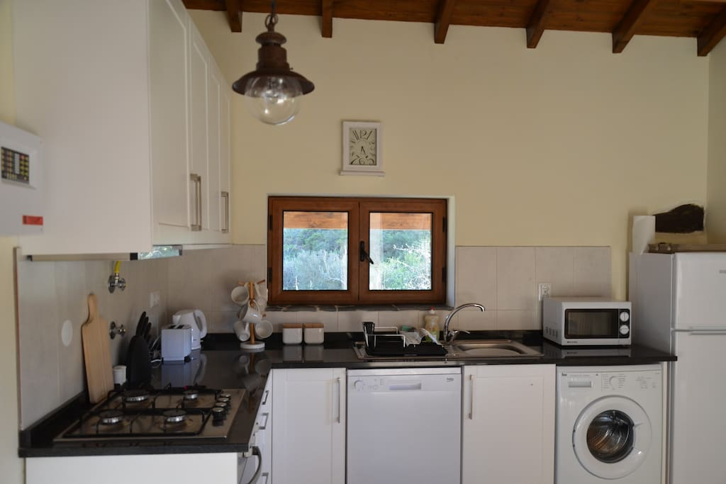 You have a fully fitted kitchen including a dish washer and washing machine.