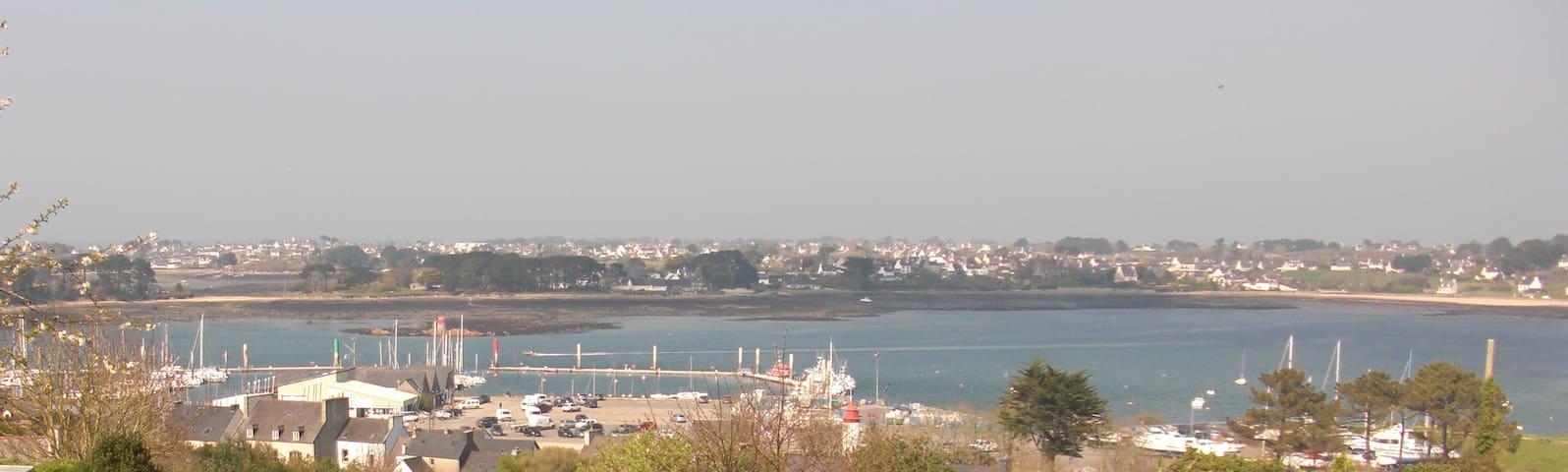 Maison 4 pers. vue mer et port de l'Aber Wrach