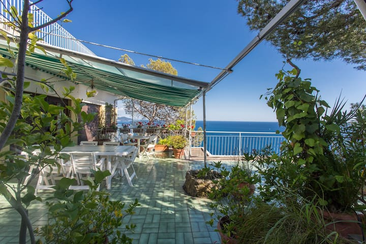 Stunning views, Pool and direct access to the sea!