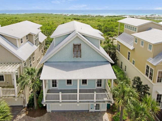 Panoramic Views of the Gulf from this 3 floor Ocean Retreat, 2 car garage