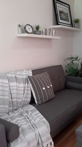 Extra sofa bed for your guest.