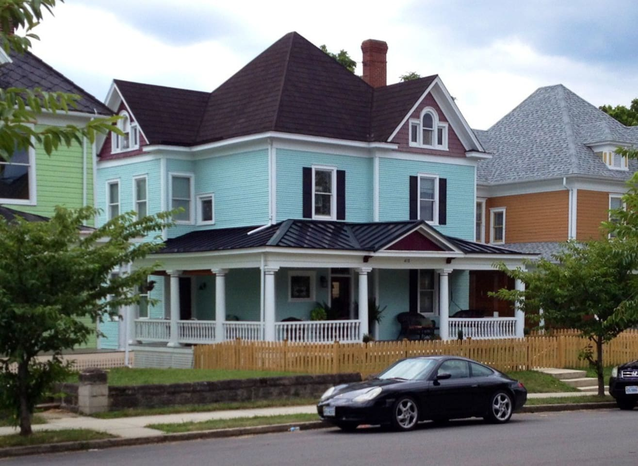 Beautiful Victorian Gallery house on premier block of historic Old Southwest city, Roanoke
