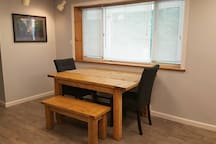 Eat-in kitchen with custom-built table