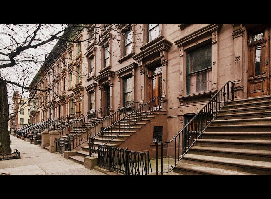Classic brownstone street