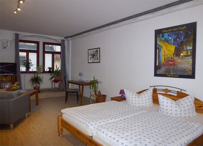 Separates 1-Raum Apartment ca. 50 m² Stadtzentrum