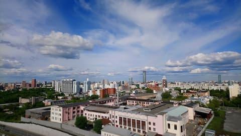 Mysig lägenhet nära centrum med fantastisk utsikt