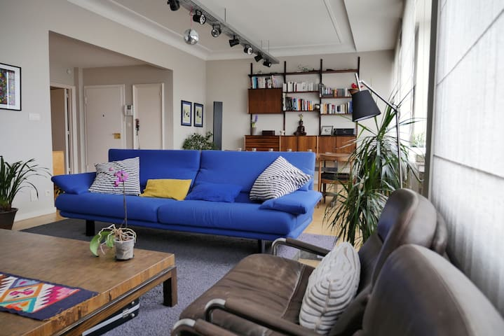Cozy double room in stunning apartment in Flagey! - Ixelles - Appartement