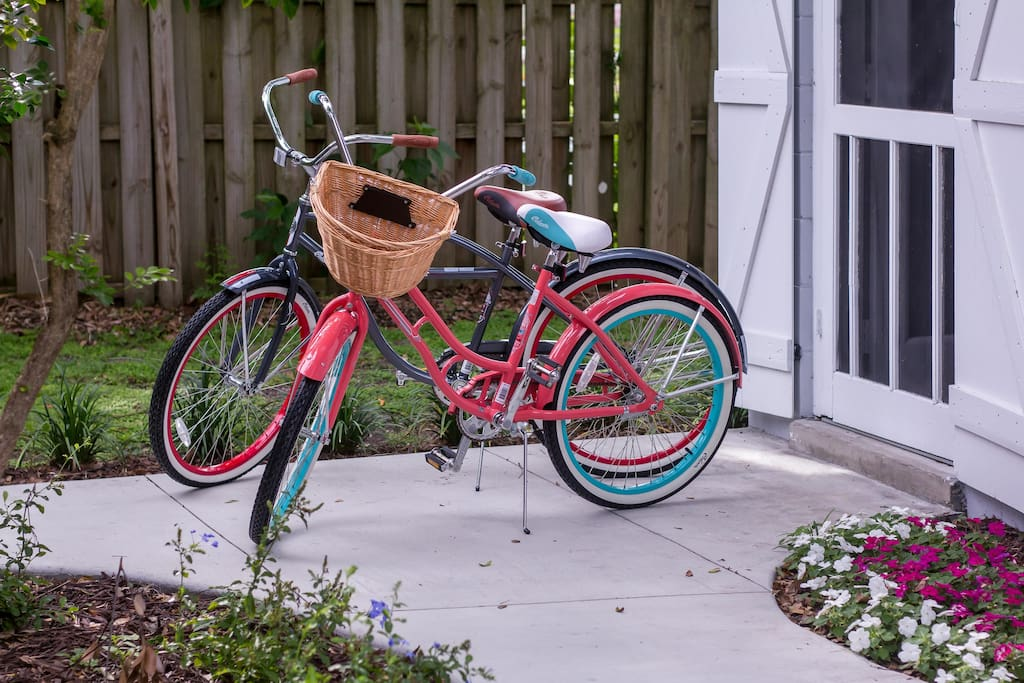 Imagine going on a ride down the tree lined streets, through downtown, and around Lake Dora on our complimentary bikes.