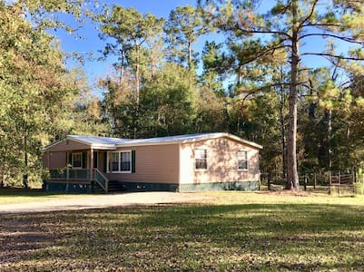 Country 4 BR Doublewide on Wooded Acre