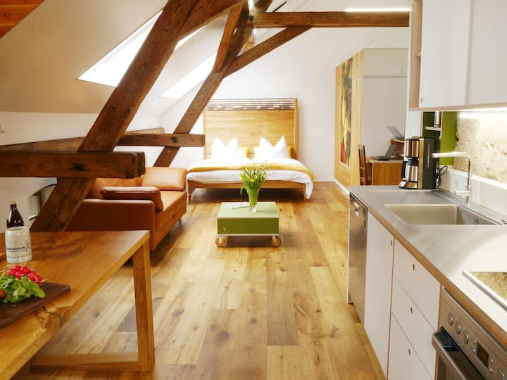 Ferienwohnung Brauhaus 3 (Königsberg), Design Appartement Hopfen(55qm) mit Pool