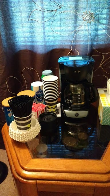 Free coffee in room