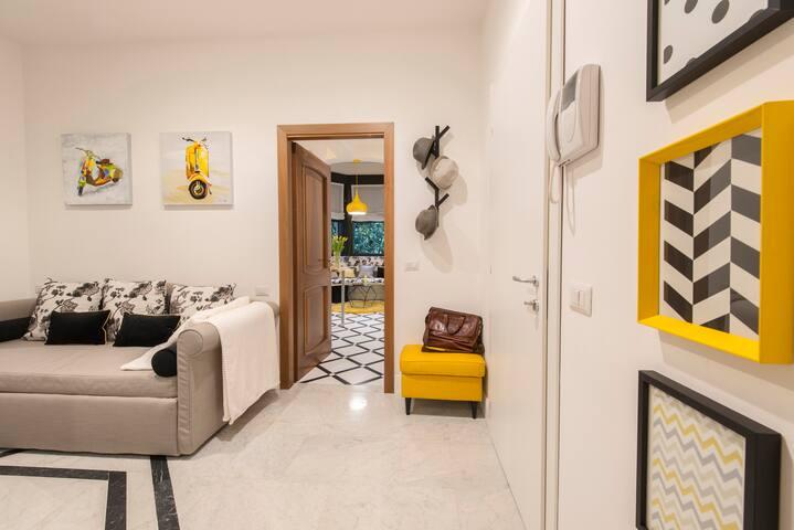 YELLOW: Suite deluxe - adjoining rooms