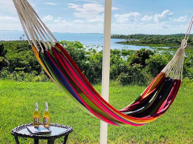 Relax and take in the view in our hammock!