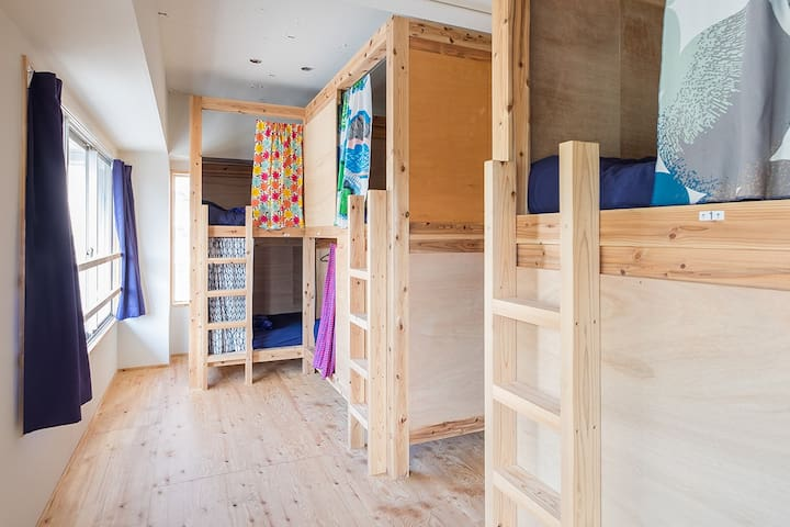 """The women-only dormitry D of a hostel,""""uzuhouse"""" - 下関市 - Chambre d'hôtes"""