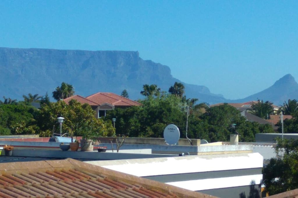 View of Table mountain from both bedrooms.