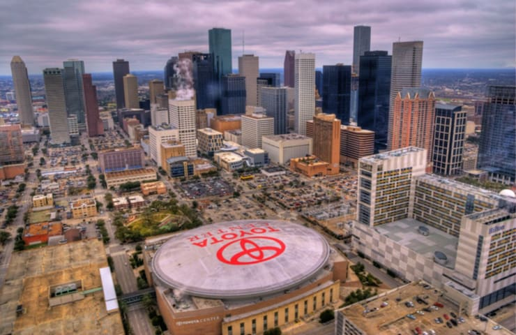 Rockets-Toyota Center is 0.75 miles away