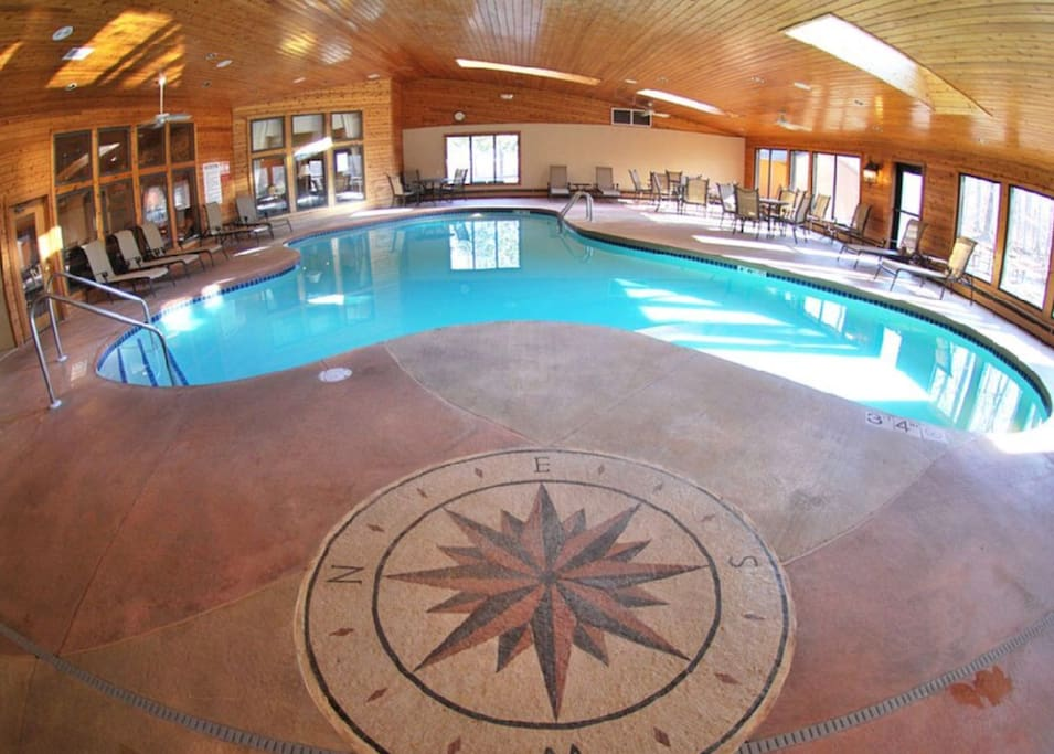 The indoor pool located in the Pilot House and open 24/7!