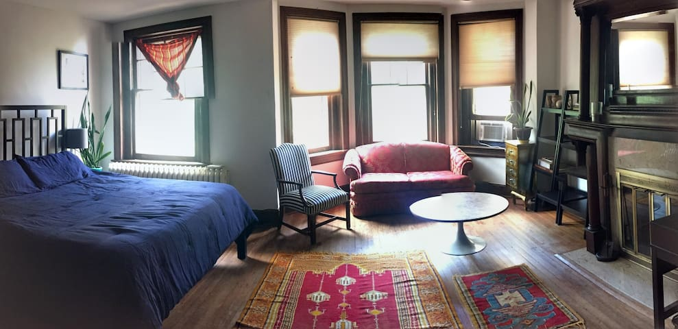 Master Bedroom with Bay Windows in the Heart of DC