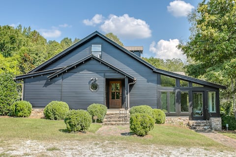 Chic Leiper's Fork Retreat on 15 Acres With a Pond