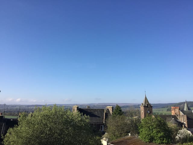 lovely views over crieff from the living/dining room