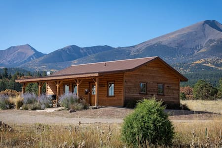 Secluded, artistic cabin nestled against the Sangres on 23 acres.  NO BOOKING FEES!