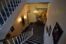 Treppenhaus, Aufgang zum Badezimmer
