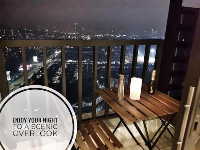 45#唯一2房 2Bedroom 8pax【Family& Friend】吉隆坡受欢迎无边界泳池民宿