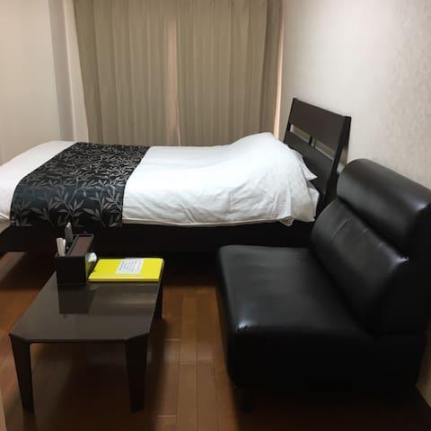 【H10.4】6min Hakata St.☆Motsu-nabe on 1st floor!